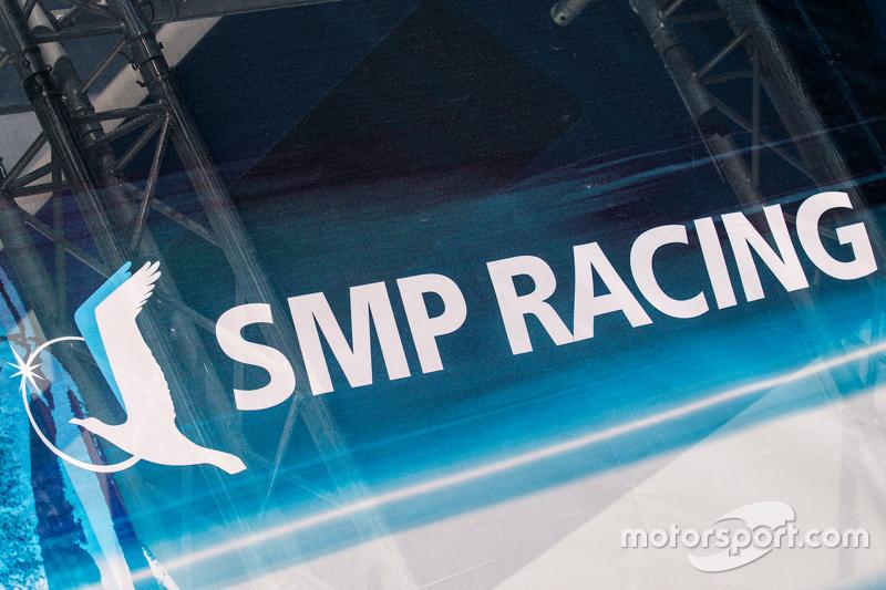 SMP Racing transporter and logo / signage