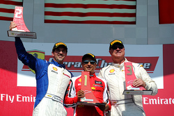 Podium: race winner #8 Ferrari of Fort Lauderdale, second place Marc Muzzo, third place Steve Johnson