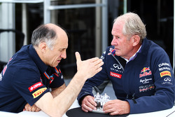 Franz Tost, Scuderia Toro Rosso Team Principal with Dr Helmut Marko, Red Bull Motorsport Consultant