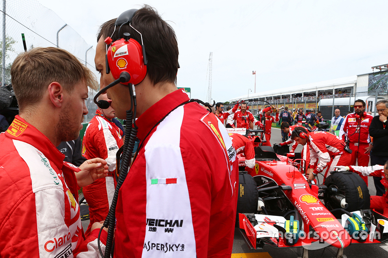 Sebastian Vettel, Ferrari on the grid