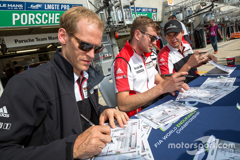 Porsche Team: Richard Lietz, Jörg Bergmeister, Michael Christensen