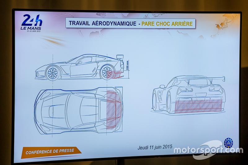 Aerodynamische Arbeiten am hinteren Stoßfänger für Le Mans