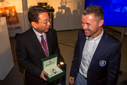 Yoshiaki Kinoshita, Spirit of Le Mans winner and Grand Marshal Tom Kristensen