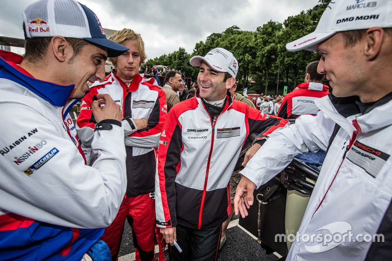 Sébastien Buemi, Brendon Hartley, Romain Dumas , dan Marc Lieb