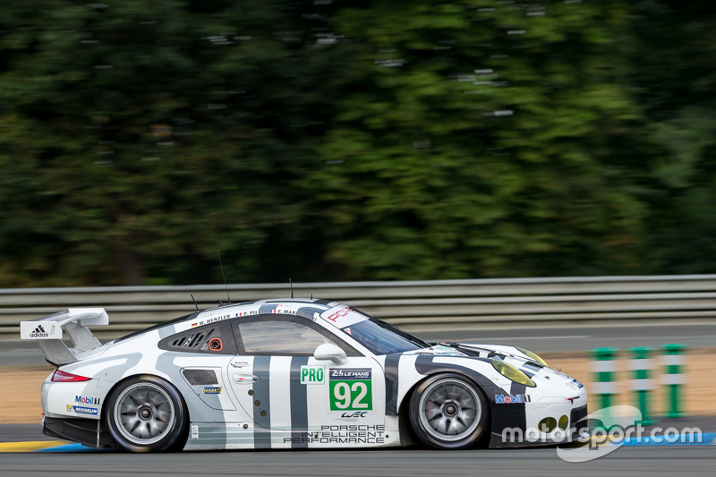 #92 Porsche Team Manthey, Porsche 911 RSR: Frédéric Makowiecki, Patrick Pilet, Wolf Henzler