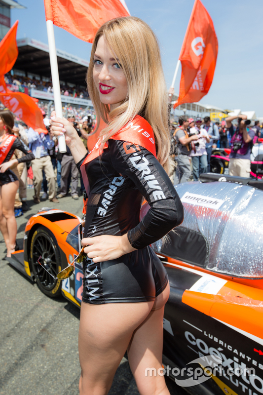 A lovely G-Drive Racing girl at 24 Hours of Le Mans