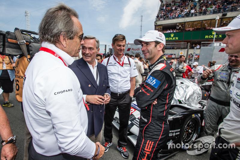 Jack Ickx and Porsche Team: Romain Dumas