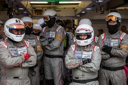 Membros da equipe Porsche Team