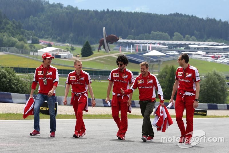 Esteban Gutierrez, Scuderia Ferrari e Sebastian Vettel, Scuderia Ferrari