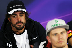 Fernando Alonso, McLaren and Nico Hulkenberg, Sahara Force India F1 in the FIA Press Conference