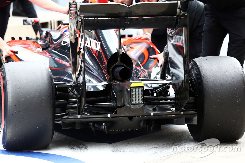 McLaren MP4-30, hinterer Diffusor, Detail