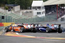 Michele Beretta, Mücke Motorsport, Dallara F312 Mercedes-Benz and Tatiana Calderon, Carlin, Dallara F312 Volkswagen