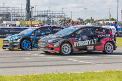 Ken Block, Hoonigan Racing Division Ford and Nelson Piquet Jr., SH Racing Rallycross Ford