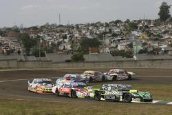 Mauro Giallombardo, Maquin Parts Racing, Ford; Guillermo Ortelli, JP Racing, Chevrolet, und Lionel Ugalde, Ugalde Competicion, Ford