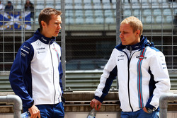 (L to R): Antti Vierula, Personal Trainer with Valtteri Bottas, Williams