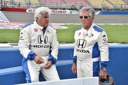 Jay Leno und Mario Andretti