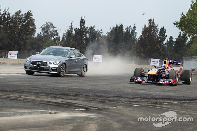 Daniel Ricciardo, Red Bull Racing tests the new Mexican GP circuit