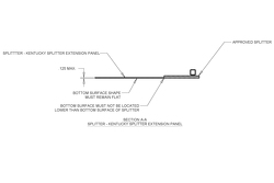 Dibujos técnicos divisor para NASCAR