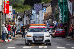 Race cars parade in Adenau
