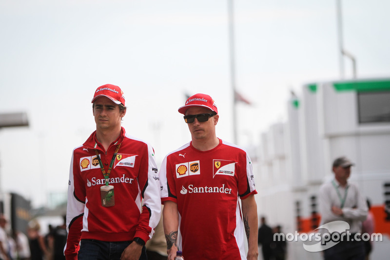 Esteban Gutierrez, Ferrari Test and Reserve Driver with Kimi Raikkonen, Ferrari