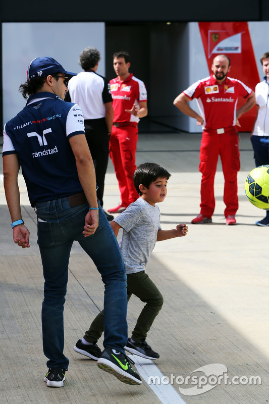 Felipe Massa, Williams met zoon Felipinho Massa