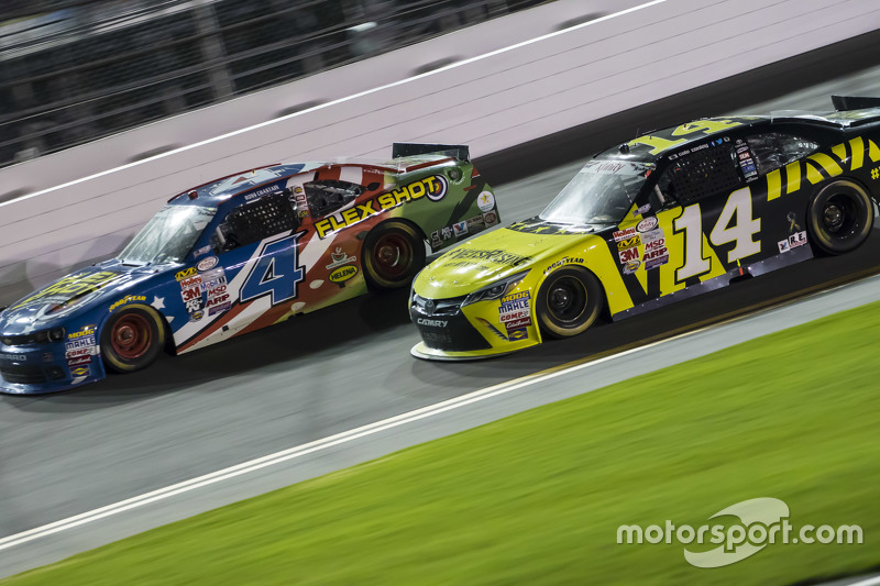 Ross Chastain, JD Motorsports Chevrolet and Cale Conley, TriStar Motorsports Toyota