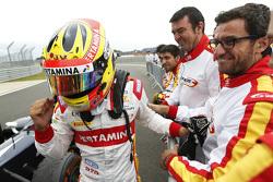 Race winner Rio Haryanto, Campos Racing