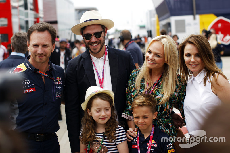 Christian Horner, Red Bull Racing Team Principal with Will Young and Emma Bunton and Geri Halliwell