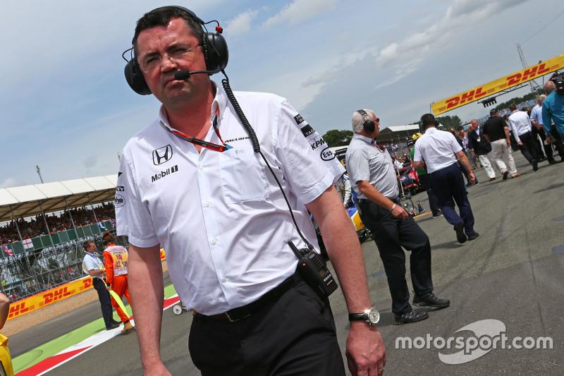 Eric Boullier, Direttore McLaren Racing sulla griglia di partenza