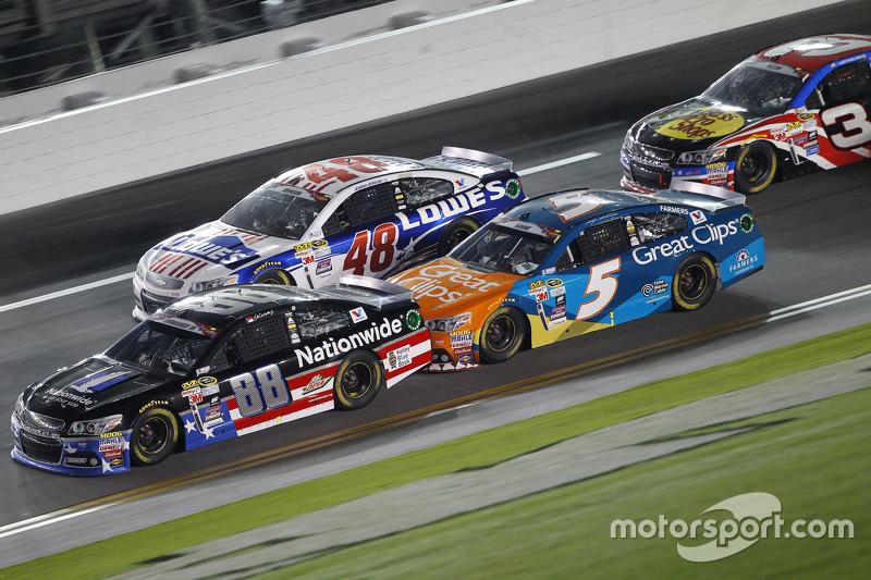 Dale Earnhardt Jr., Hendrick Motorsports Chevrolet, Jimmie Johnson, Hendrick Motorsports Chevrolet dan Kasey Kahne, Hendrick Motorsports Chevrolet