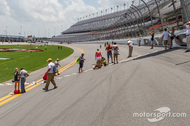 Fans on the banking at Daytona
