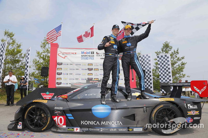 Race winners Ricky Taylor, Jordan Taylor