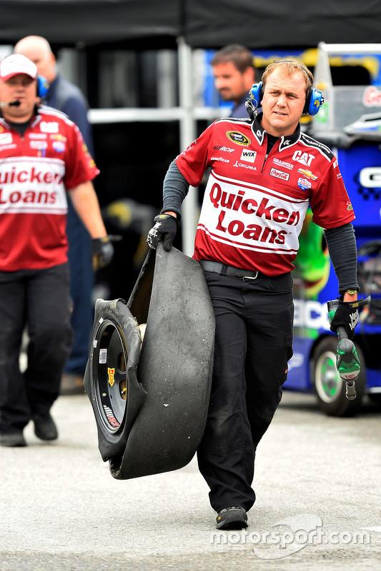 Un pneu crevé pour Ryan Newman, Richard Childress Racing Chevrolet