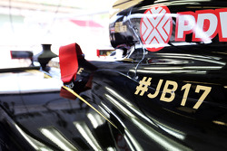 The Lotus F1 E23 carries a tribute to Jules Bianchi