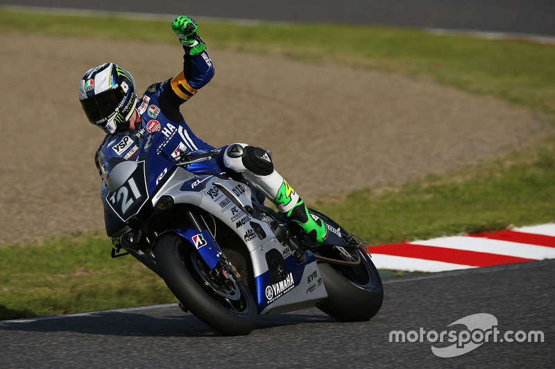 #21 Yamaha: Katsuyuki Nakasuga, Pol Espargaro, Bradley Smith di pole position