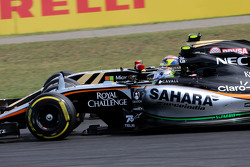 Sergio Perez, Sahara Force India en Pastor Maldonado, Lotus F1 Team