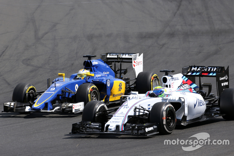 Marcus Ericsson, Sauber F1 Team, dan Felipe Massa, Williams F1 Team