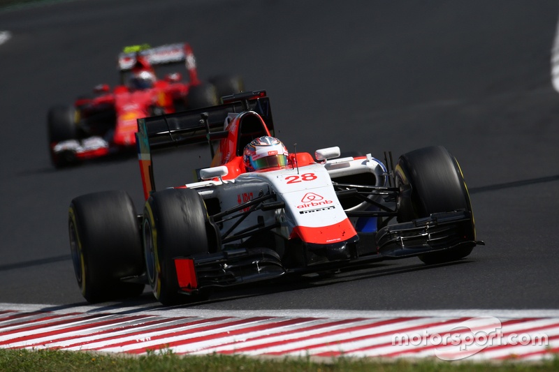 Will Stevens, Manor F1 Team memimpin Roberto Merhi, Manor F1 Team