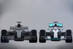 Comparación del actual auto de F1 2015 con el del  2017