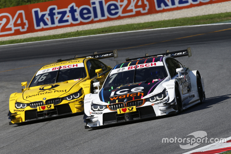 Timo Glock, BMW Team MTEK BMW M4 DTM and Marco Wittmann, BMW Team RMG BMW M4 DTM
