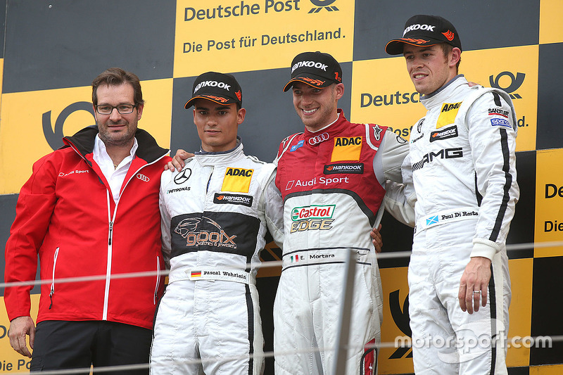 Podium: winner Miguel Molina, Audi Sport Team Abt, second place Pascal Wehrlein, HWA AG Mercedes, third place Paul di Resta, HWA AG Mercedes
