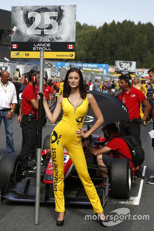 Gridgirl of Lance Stroll, Prema Powerteam Dallara Mercedes-Benz
