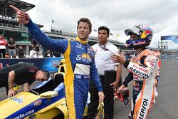 Marco Andretti, Andretti Autosport Honda, dan Dani Pedrosa, Repsol Honda Team