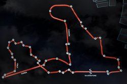 Martin Brundle's ultimate Scalextric circuit - diagram featuring straights, dan corners from 2015 F1 circuits