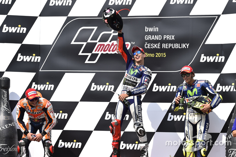 Pemenang balapan: Jorge Lorenzo: Yamaha Factory Racing: peringkat kedua Marc Marquez: Repsol Honda Team: dan peringkat ketiga Valentino Rossi: Yamaha Factory Racing