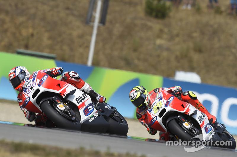 Andrea Dovizioso dan Andrea Iannone, Ducati Team