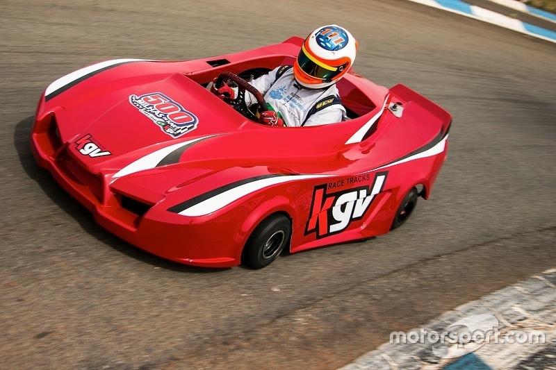 Rubens Barrichello na pista de Limeira