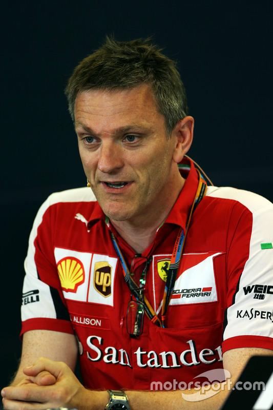 James Allison, Ferrari Chassis technisch directeur in de FIA persconferentie