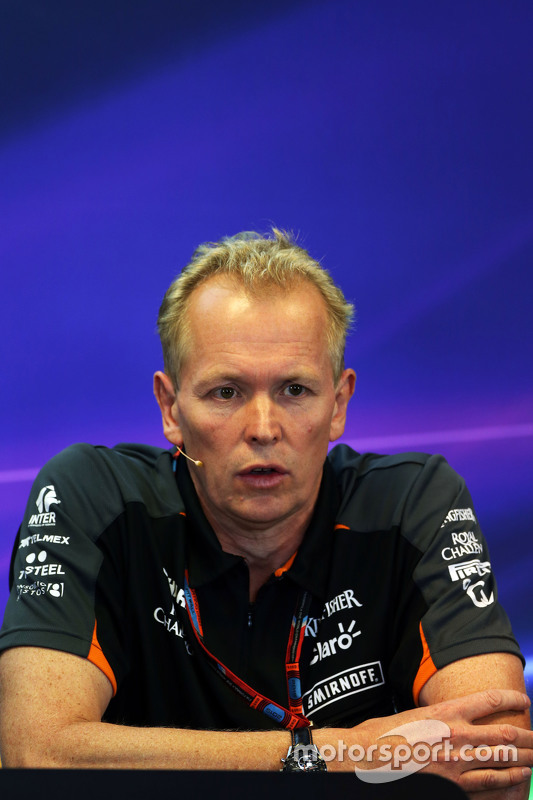 Andrew Green, Sahara Force India F1 Team Technical Director di Konferensi Pers FIA
