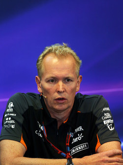 Andrew Green, Sahara Force India F1 Team Technical Director di Konferensi Pers FIA